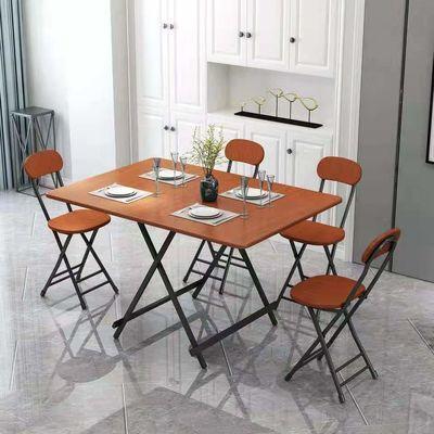 简易折叠桌家用餐桌摆地摊桌吃饭阳台桌子户外便携折叠桌子长方形