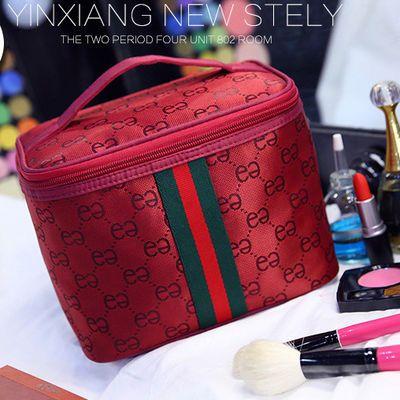 网红同款化妆包大容量手提收纳袋女旅行化妆盒简约洗漱品多功能小