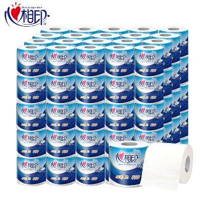心心相印卷纸批发家用10/40卷厕纸有芯卷筒纸卫生纸巾3层酒店商务