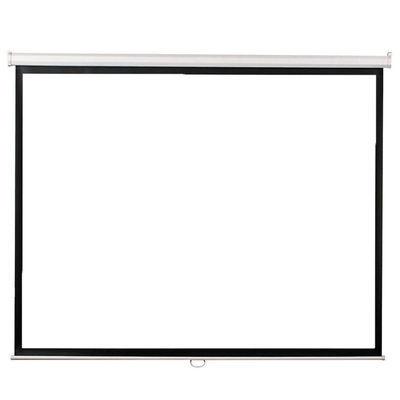 白塑玻纤灰玻纤84-120寸手动自锁幕布高清办公家用投影仪手拉幕布