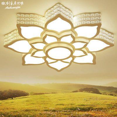客厅灯LED吸顶灯温馨卧室灯圆形灯具花款灯饰简约现代套餐莲花灯