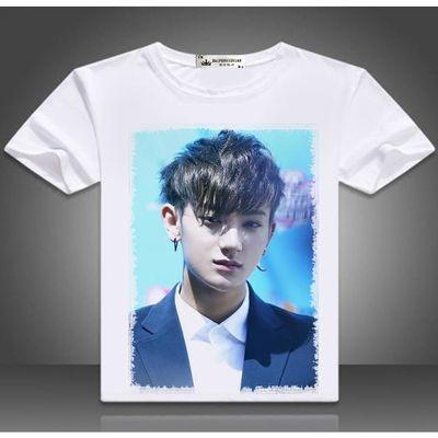 exo黄子韬周边长短袖签名t恤男女同款韩版TAO写真应援衣服打底衫