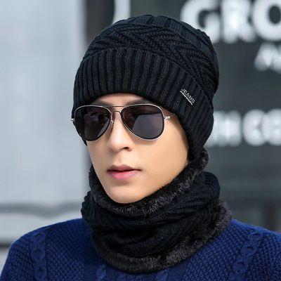 加厚加绒套头帽男士韩国版新款潮男针织帽子米字毛线保暖帽秋冬