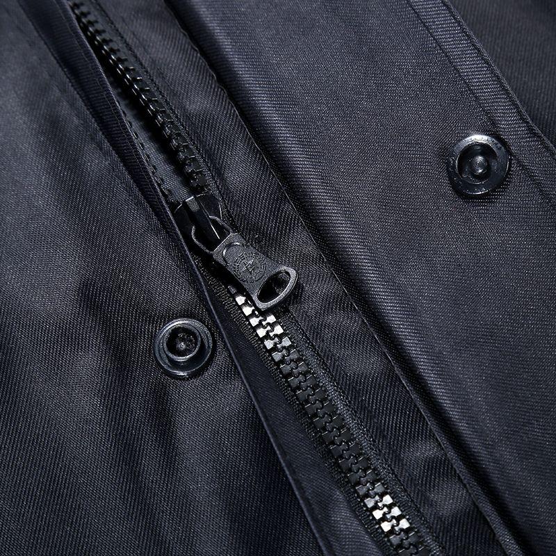 雨颐户外连体加长雨衣风衣双层加大男成人防护安保巡逻站岗垂钓