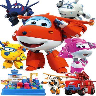 超级飞侠玩具套装全套大小号迷你变形机器人儿童玩具男孩小爱乐迪