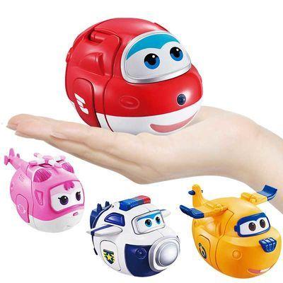 奥迪双钻新超级飞侠趣变蛋玩具奇趣扭蛋变形机器人乐迪小爱包警长