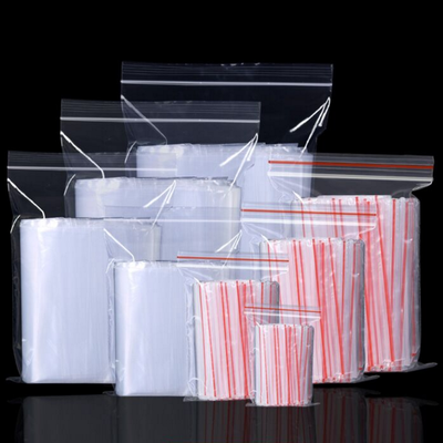 透明保鲜大中小号PE加厚自封口收纳塑料袋子密封食品包装批发定制