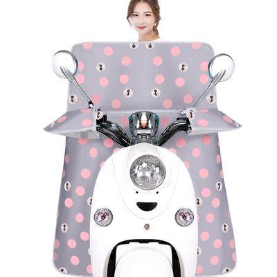 夏季电动车挡风被防水防晒电瓶车摩托车遮阳防风罩防雨夏天薄款
