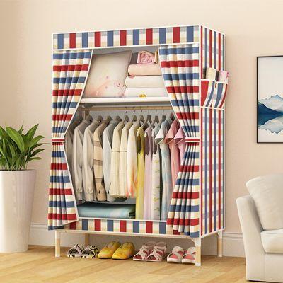 单人小号宿舍新款布衣柜全钢架钢管加粗加固加厚简易简便收纳布柜