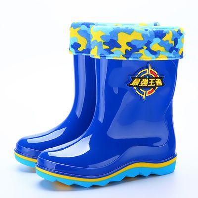 保暖时尚加绒可爱儿童雨鞋男童防滑小孩专用雨雪耐磨水靴公主冬天
