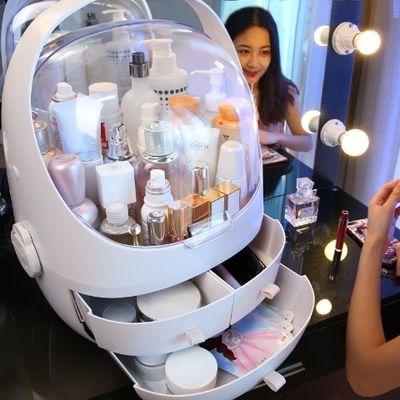19款 网红化妆品收纳盒抽屉式手提透明桌面护肤品置物防尘 化妆盒