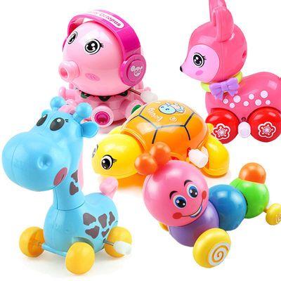 宝宝婴幼儿益智发条玩具0-1-2-3岁儿童玩具动物上链条婴儿玩具车
