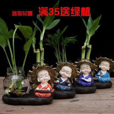 水培花瓶客厅装饰品玻璃创意花盆陶瓷插花富贵竹小花瓶家居饰品