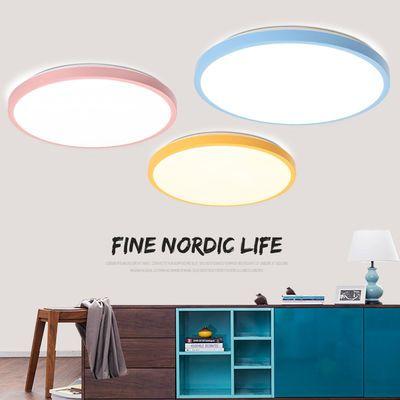 LED圆形吸顶灯客厅卧室卫生间阳台房间餐厅过道节能现代简约灯具