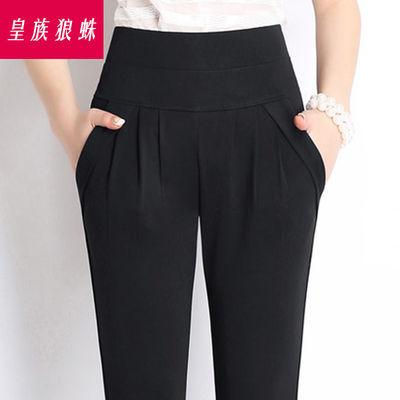 夏季薄款九分裤外穿打底裤女高腰中年妈妈裤子女黑色百搭铅笔裤