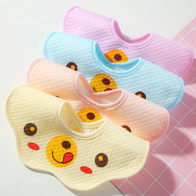 宝宝口水巾婴儿三角巾纯棉新生儿童围嘴围巾防水围兜男童女孩*6条