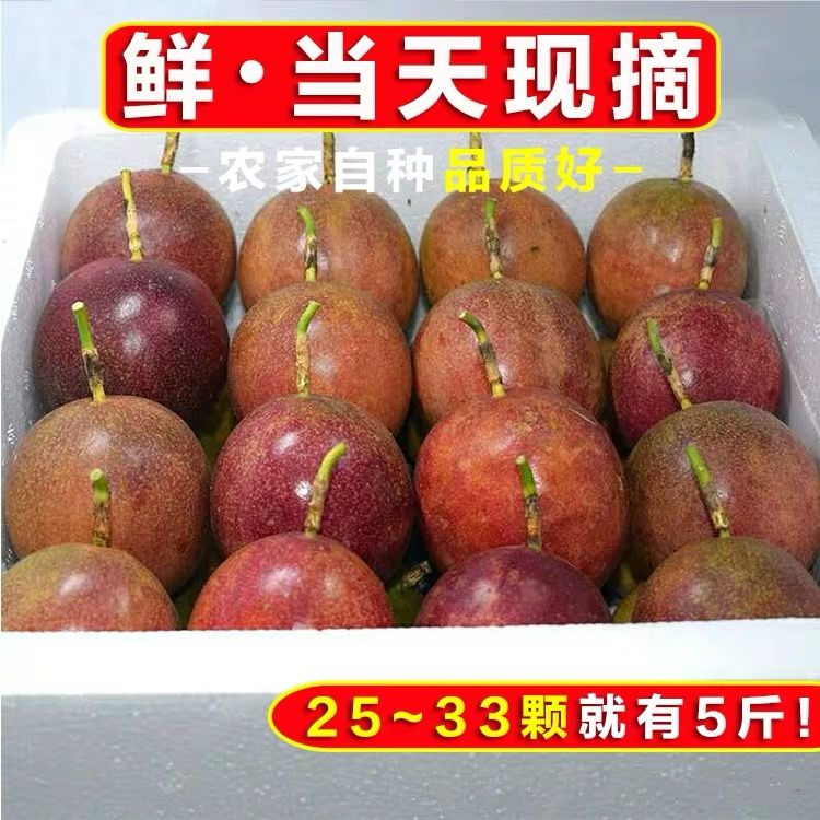 广西百香果5斤送开果器热带新鲜水果鸡蛋果现摘精装大红果1斤大果_2