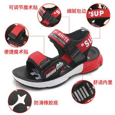 儿童凉鞋女高跟小孩韩版粗平底帮宝软皮防滑学步男子二岁生拖细6