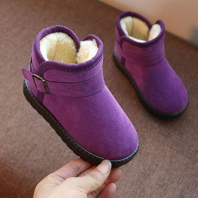 冬季新款男女儿童低筒雪地靴韩版女童保暖棉靴子女宝宝百搭棉鞋子