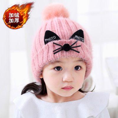 3冬季7儿童8宝宝9中大童加绒毛线帽子10男童11潮12女童两13岁