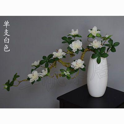 卧室装饰摆件流水玫瑰花束真桌面内干车品家庭客厅盆栽设藤条小上