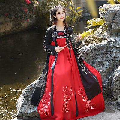 仙日常唐制装色襦裙逸女腰胸齐彼花传统踏月华服引套矮个子学生小