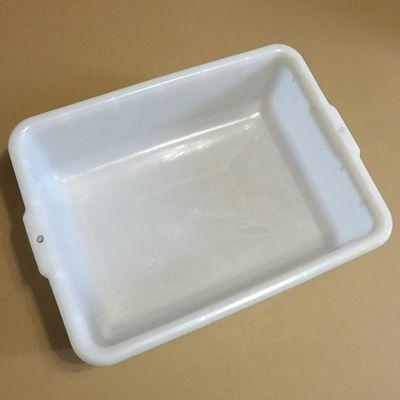 钢化塑料白方盆泡凉皮泡粉条专用白盆加厚洗菜盆装火罐养乌龟盒子