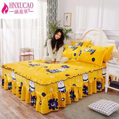 涵羞草家纺韩版床罩床裙单件韩式公主床单床笠1.0/1.5/1.8m米