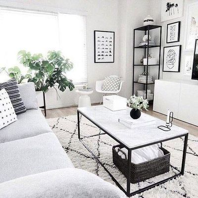 Beni Ourain Carpet北欧手工地毯摩洛哥菱形线条黑白菱格纹客厅毯