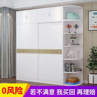 衣柜现代简约经济型组装木质推拉门卧室整体成人衣橱简易租房衣柜