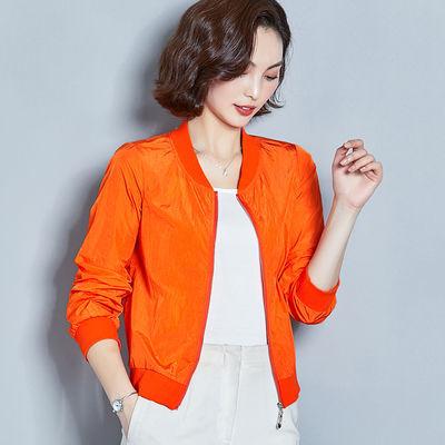 短款棒球服防晒衣小外套女夹克开衫夏薄款纯色百搭休闲空调衫外搭