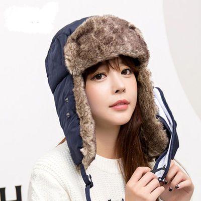 苏联徽章雷锋帽户外防寒东北加厚加绒男女士冬季骑车保暖护耳棉帽主图