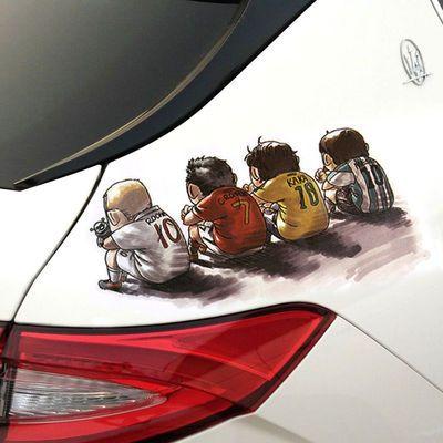 猫汽车贴纸可爱性车身贴创意凯蒂猫车贴新手贴遮划痕贴油箱盖