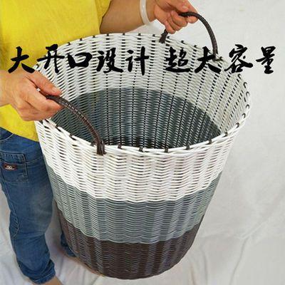 大号折叠棉麻脏衣篮脏衣篓束口衣物玩具收纳筐篮洗衣桶衣物收纳筐