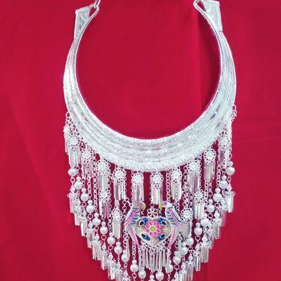 少数民族夸张舞台演出项圈胸圈胸饰品服装挂件配饰银项圈