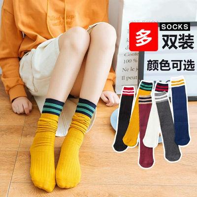 秋冬堆堆袜女日系兔羊毛复古翻边女袜韩版保暖加厚中长筒袜