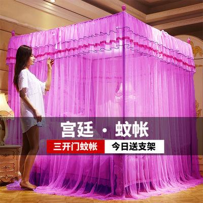 蚊帐家用1.8米单双人加密公主风1.5米宫廷三开门帐子1.0米床新款
