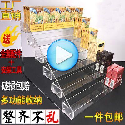 木质烤漆中国烟草烟柜便利店玻璃展柜收银台超市货架烟酒专卖柜台