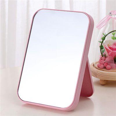 小镜子随身镜化妆镜可折叠携带学生放大女复古木制翻盖式镜子便携