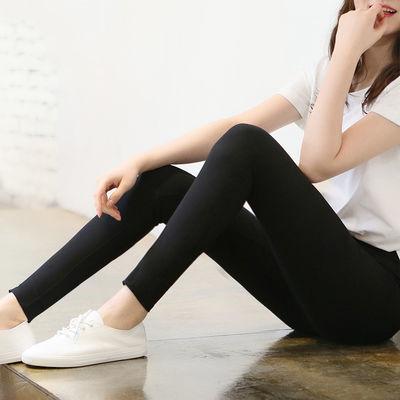 打底裤女外穿薄款九分紧身弹力高腰松紧腰显瘦小脚韩版春夏裤子女