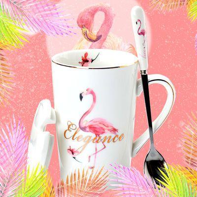 马克杯陶瓷茶杯带盖泡茶杯网红北欧风创意简约办公室过滤喝水杯子【3月12日发完】