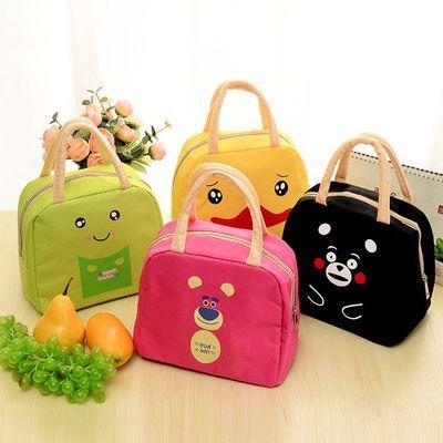 饭盒袋手提包韩版清新保温袋铝箔加厚盒饭包便当包小学生可爱防水