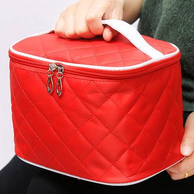 韩国便携化妆包大容量简约防水洗漱包旅行收纳袋随身小号手拿方包