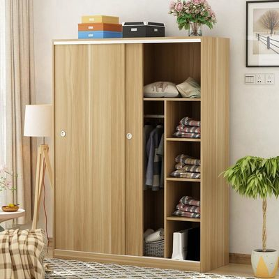 衣柜简约现代经济型组装板式衣橱移门简易柜子儿童推拉门卧室实木