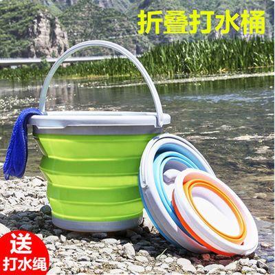 【加厚硅胶折叠打水桶】户外加厚钓鱼桶水桶便携钓鱼圆形打水桶