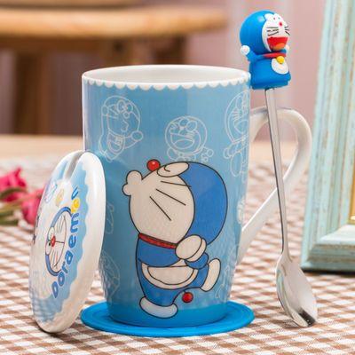 创意杯子陶瓷马克杯带盖勺简约情侣杯办公室家用水杯咖啡牛奶杯