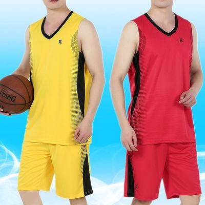 男休闲跑步服夏季篮球服套装男无袖背心健身运动球衣速干透气宽松