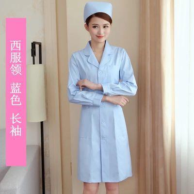 雪兰果白大褂短袖男女医生服实验服夏装护士服白大衣医院工作服