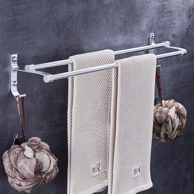 九牧太空铝浴巾架卫浴五金套件卫生间挂餐浴室置物架毛巾架