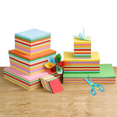 【买就剪刀】15正方形千纸鹤折纸彩纸幼儿园儿童手工材料卡纸主图